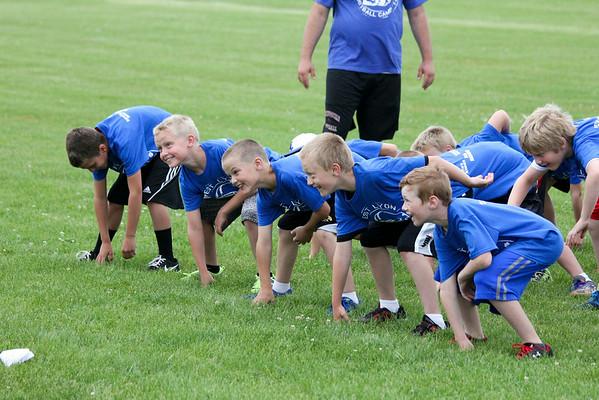 West Lyon grade school football camp